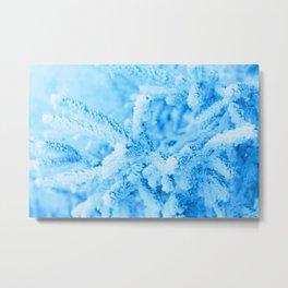 Snowy Spruce Needles 18 Metal Print