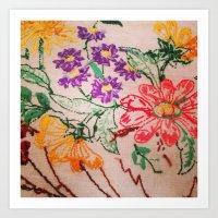 floral threads Art Print