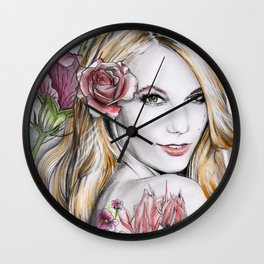 Floral Karlie Wall Clock