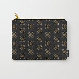 Gold Loop Pattern Carry-All Pouch