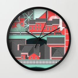 Townscape Wall Clock