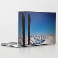 ski Laptop & iPad Skins featuring ski by Vi Glory