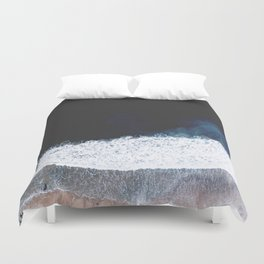 Ocean III (drone photography) Duvet Cover
