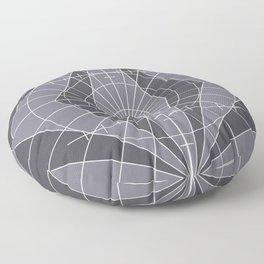 Monochrome Minimalist Geometric Lines Design Floor Pillow
