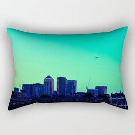 View towards Canary Wharf Rectangular Pillow