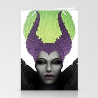 maleficent Stationery Cards featuring Maleficent by clayscence