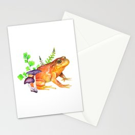 Ranita de hojarasca con plantas Stationery Cards