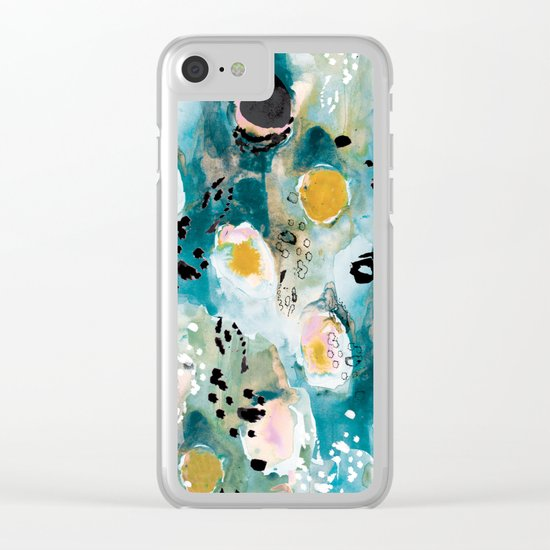 Emerald Wings Clear iPhone Case