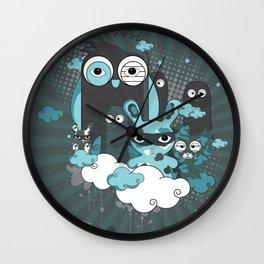 Nocturnal Friends Wall Clock