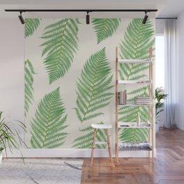 Fern on Cream III - Botanical Print Wall Mural