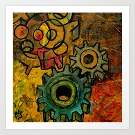 Gears and Cogs Art Print