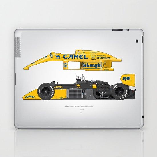 Outline Series N.º5, Ayrton Senna, Lotus 99T-Honda, 1987 Laptop & iPad Skin