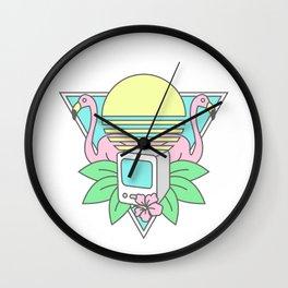 Flamingo Sunrise Wall Clock