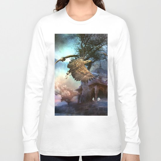 Awesome flying eagle Long Sleeve T-shirt