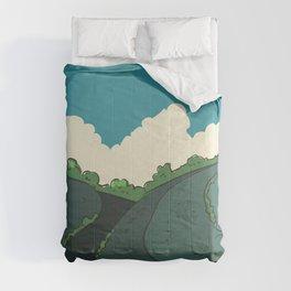Japanese Fields Comforters