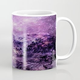 galaxy mountains Purple Coffee Mug