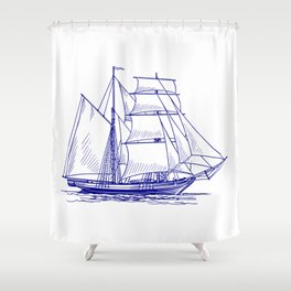 Vessel of the Sea going sailing Shower Curtain