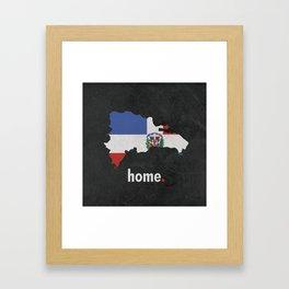Dominican Republic Proud Framed Art Print