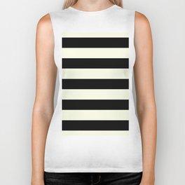 Preppy mid century modern minimalist Paris Chic Black And White Stripes Biker Tank
