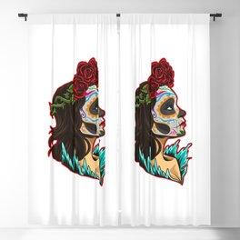 Sugar Skull - Santa Muerte - La Calavera Catrina Blackout Curtain
