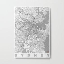 Sydney Map Line Metal Print