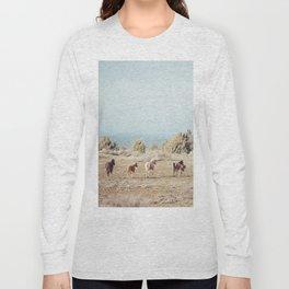 Oregon Wilderness Horses Long Sleeve T-shirt