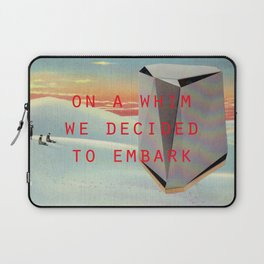 On a whim we decided to embark (Coburg Faceted Table and Sunset) Laptop Sleeve