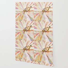Sleeping Ballerina Floral - Gold Summer Palette Wallpaper