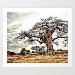 Still Standing Airbrush Artwork Art Print