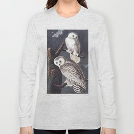 Snowy owl, Birds of America, Audubon Plate 121 Long Sleeve T-shirt