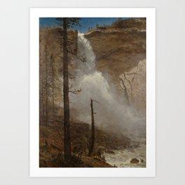 Albert Bierstadt - Falls of Yosemite (1880s) Art Print