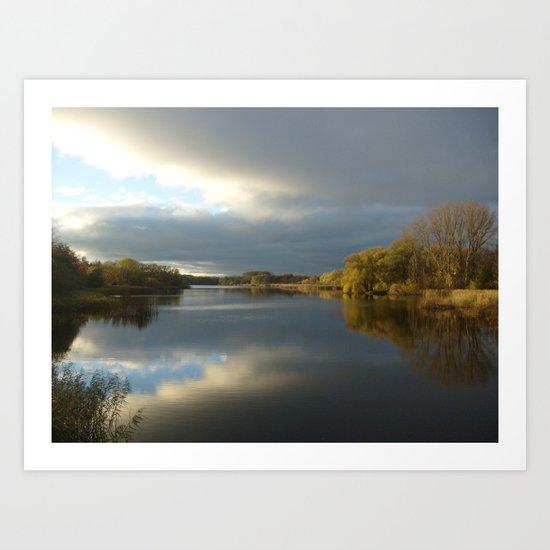 View   on the Lake Art Print