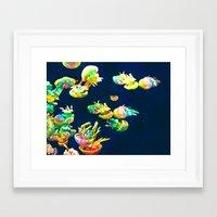 rasta Framed Art Prints featuring Rasta Jellies by Heidi Fairwood