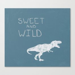 Sweet and Wild Dinosaur Canvas Print