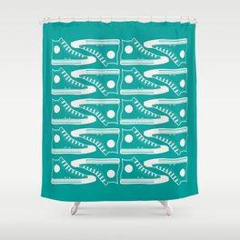 'The Con Artist' - Green Converse Pattern Shower Curtain