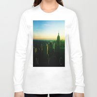 nyc Long Sleeve T-shirts featuring NYC by Tristan Tait