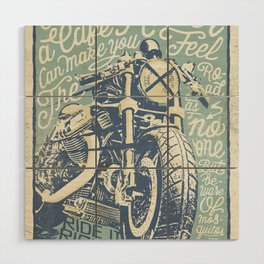 Feel the Road with a Cafe Racer Wood Wall Art