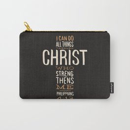 I Can Do All Things Through Christ Bible Verse Carry-All Pouch