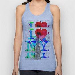 Love NY Grunge Unisex Tank Top