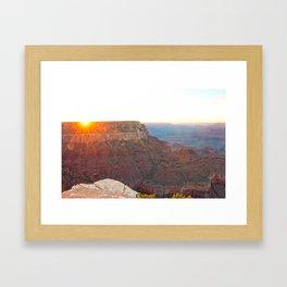 South Rim Sunset Framed Art Print