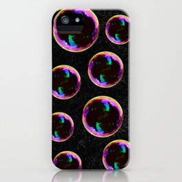 Soap Bubbles Pattern iPhone Case
