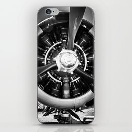 Vertical Close-up of T-28B Trojan Engine iPhone Skin