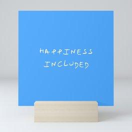 happiness included 2 blue Mini Art Print