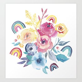 Roses and Rainbows Art Print