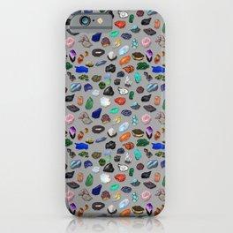 Painted Gemstones Repeating Pattern iPhone Case
