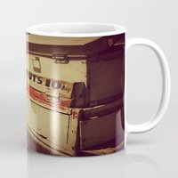 peanuts Mugs featuring Vintage Peanuts Cart by KimberosePhotography