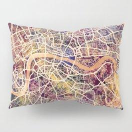 London England Street Map Pillow Sham