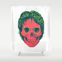 john Shower Curtains featuring John by David Maclennan