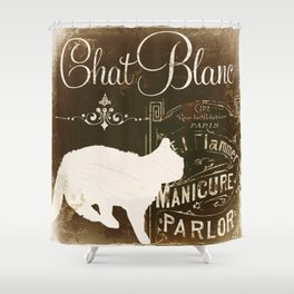 Chat Blanc Shower Curtain