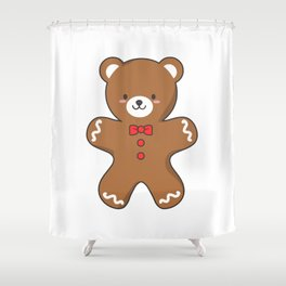 Ginger-Bear Cookie Shower Curtain